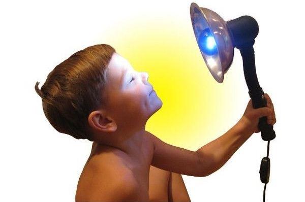 Синяя лампа это ультрафиолет или нет